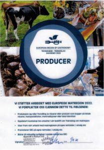 Vi støtter arbeidet med Europeisk Matregion 2022.